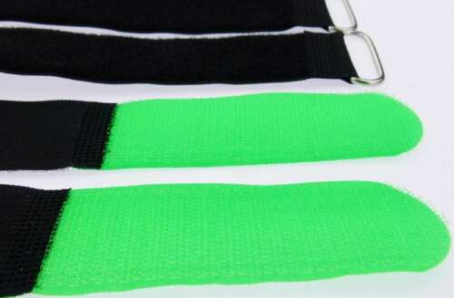 10x Cable Velcro Velcro 400 x 40 mm Neon Green Velcro Cable Ties Velcro Fasteners Eyelet