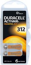 DURACELL Mercury Free Apparecchio acustico Batterie Taglia 312 CELLE x60 * scade il 2021 *