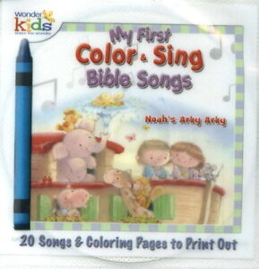 NEW-CD-Noah-039-s-Arky-20-Sing-a-long-Song-My-First-Kids-Childrens-BIBLE-COLOR-pages