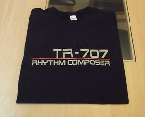 RETRO-T-SHIRT-SYNTH-DESIGN-TR-707-DRUM-MACHINE-S-M-L-XL-XXL