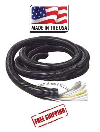 "100 Feet X 1//4/"" Split Wire Loom Convoluted Black Tubing Conduit Car Made In USA"