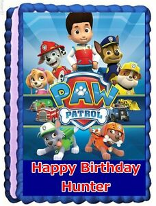 Paw Patrol Edible Cake Topper Birthday Decorations Ebay