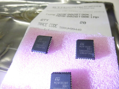 Flash PLCC 32 90ns New ~ 256kbx8 3 unidades//3 pieces m29f002bt90k1 = 29f002 2 Mbit