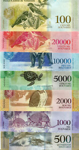 500-1000-2000-5000-10000-20000-100000-Venezuela-Bolivares-2017-UNC