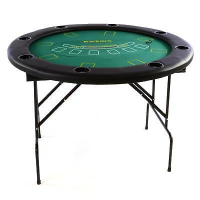 Casino-Set Pokertisch 4in1: Roulette Black Jack Craps Poker Rund 120cm 100 Chips