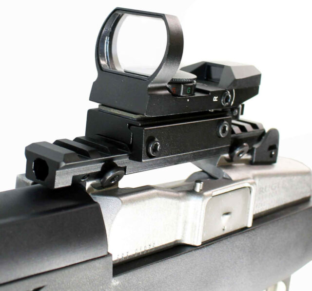 Red GREEN Sight Matte System Reflex With mount for Ruger Mini 14 parts.