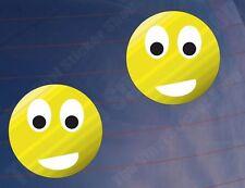 2x CARTOON SMILEYS Auto/Van/Fenster/Stoßstange/Laptop/Schlafzimmer