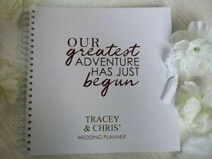 Personalised Wedding Planner Wedding Planning Book Wedding Planner Engagem Ebay