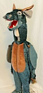 Boutique-Dragon-Deluxe-Costume-Kids-Complete-Dinosaur-Blue-Wings-Tail-Head-NEW