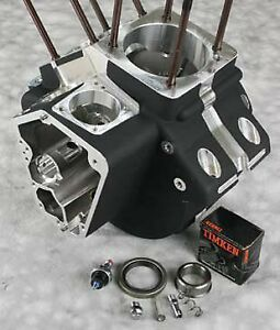 Engine Cases S S 106 107 113 Ultima Black Harley Evo Motor 1992 Later 4 Bore Ebay