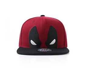 Image is loading True-Heads-Deadpool-Superhero-Red-Snapback-Baseball-Cap 9aafa71d89fc