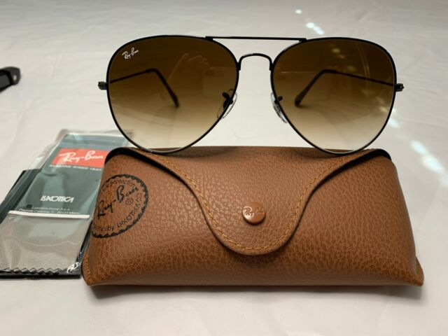 ray ban aviator sunglasses black frame black lens