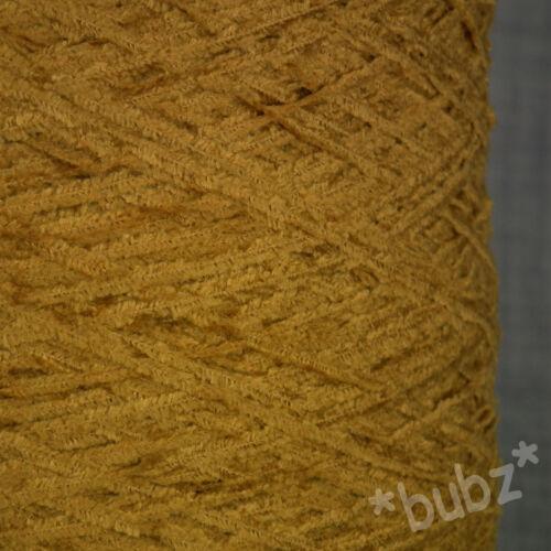 4 capas de viscosa hilado de chenilla oro 500g Máquina De Tejer Tejido Mostaza mano de cono