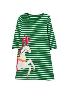 Ex Boden Tiered Jersey Frill Dress Red Stripe Ex Mini Boden Age 2-12 Years