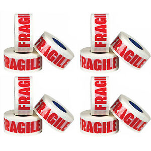 12 ROLLS OF FRAGILE PRINTED PACKING PARCEL CARTON SEALING TAPE 48MM X 66M 7091044895823