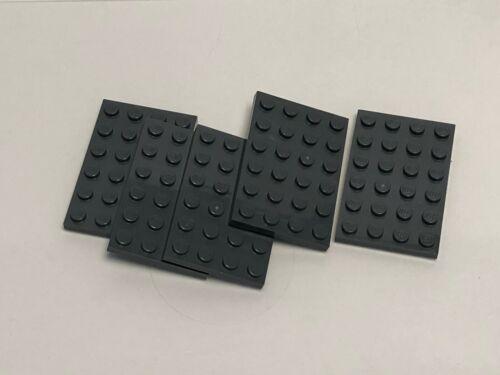 Dark Bluish Gray Plate 4 x 6 QTY 5 LEGO Parts No 3032