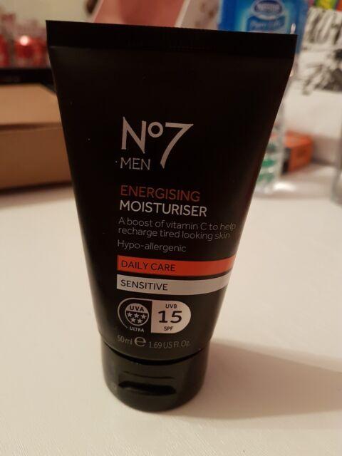 No7 Men Energising Moisturiser 50 ml Daily Care Sensitive SPF15
