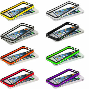 official photos 2e4d4 792e9 New Bumper Frame TPU Silicone Case Cover for Apple iPhone SE / 5S W ...