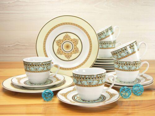 Majestosa Bleu Café Service vaisselle 18tlg 6 Personnes Porcelaine Creatable 10839