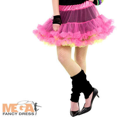 80s Gonna Reversibile Donna Costume 1980s Tutu Neon Adulti Costume Accessorio-mostra Il Titolo Originale Negozio Online
