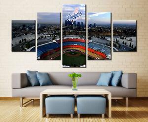 Image Is Loading Large Framed LA Dodgers Stadium Baseball Canvas Print
