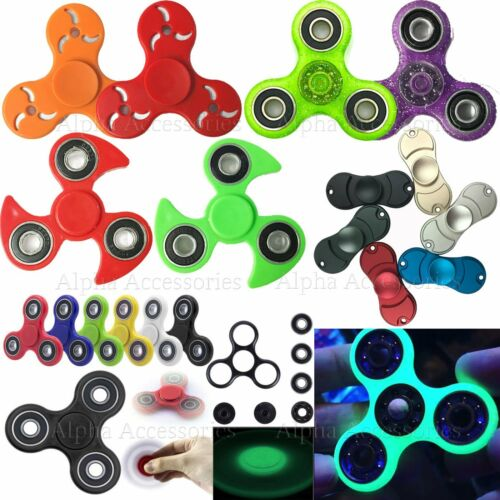 Bangers doigt Spinner main Focus Spin Glow Glitter acier EDC portant STRESS Toy