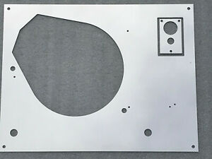 Thorens-TD-160-165-166-145-146-147-Mk2-top-face-plate-Silver-Mirror-with-LIFT