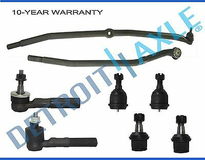 8pc Drag Link Upper Lower Ball Joint Tie Rods 03-08 Dodge Ram 2500 3500 4WD