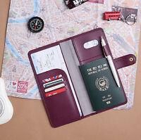 The Journey Passport Case V.4 No Skimming Cover Ticket Card Holder Travel Wallet