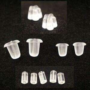 Gummi-Stopper-Ohrstopper-Ohrstecker-Gegenstecker-Verschluss-5-Varianten