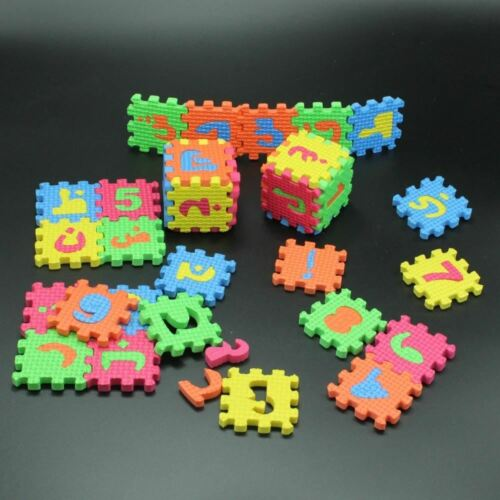 36Pcs 5.5CM*5.5CM Environmentally arabic alphabet ARAB Language EVA Foam puzzle
