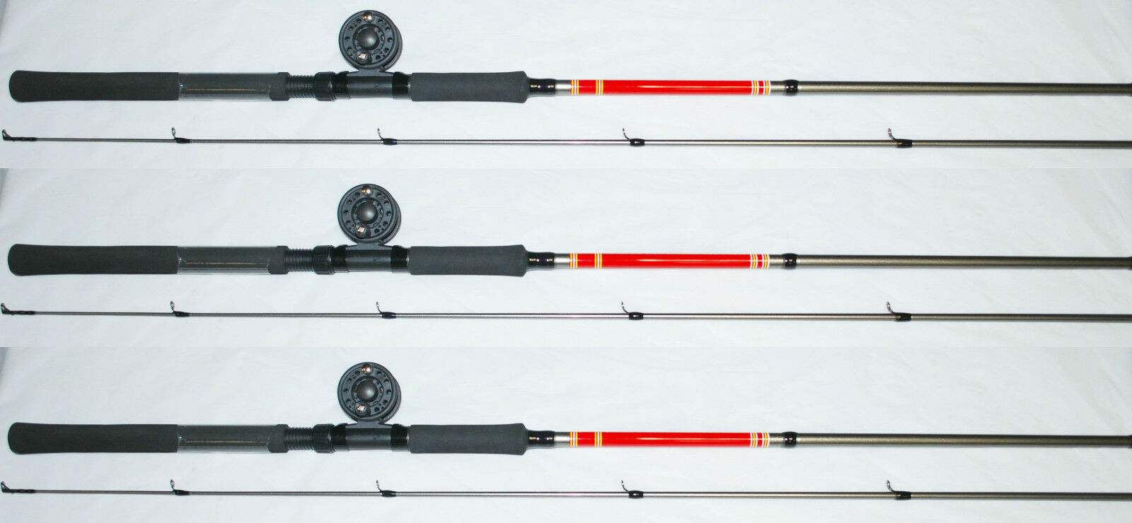 SET OF 3 BnM WEST POINT CRAPPIE FISHING POLE,ROD 10' WPCOMBO10N B&M