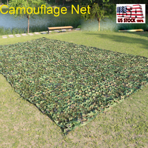 Camouflage Camo Army Green Net Netting Camping Military Hunting Woodland Leaves