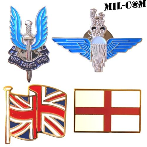 CLEARANCE! MILCOM ENAMEL PIN BADGE UNION JACK BRITISH ARMY PARA SAS MILITARY