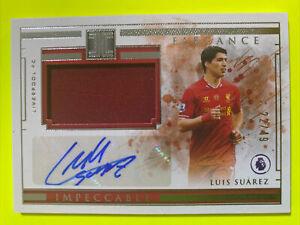 Panini Impeccable Premier League - Luis Suarez 22/49 Patch Auto