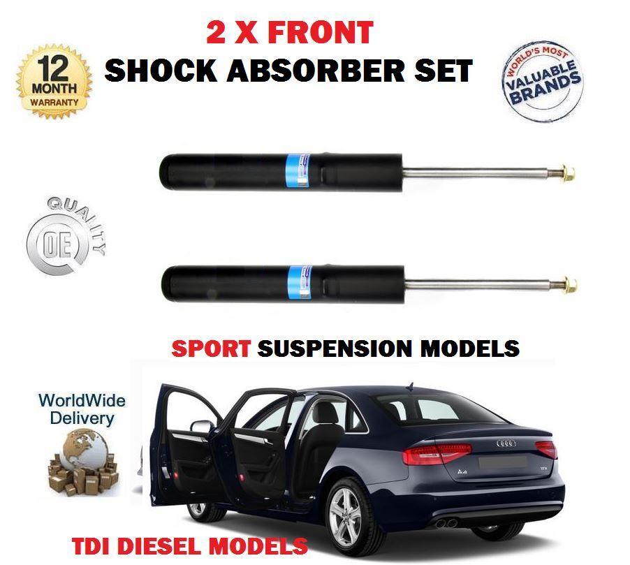 Für Audi A4 2.0 2.7 3.0 Tdi 2007-   nach 2 X Vorne Links + Rechts Stoßdämpfer