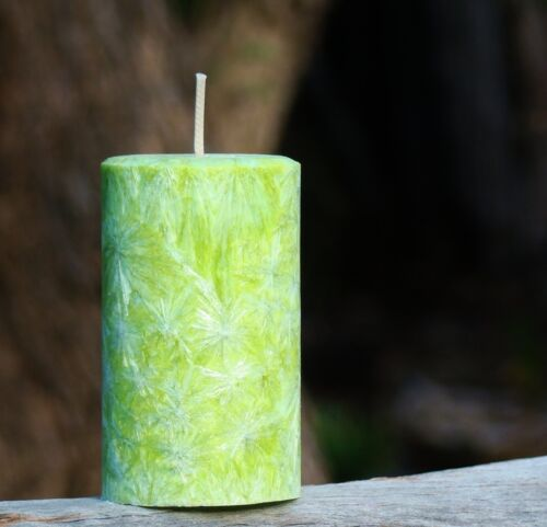 220hr SANDALWOOD /& FRENCH LAVENDER Triple Scented Natural CONE CANDLE Fragrance