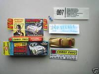 CORGI 261 JAMES BOND DB5 (REPRO BOX AND INSTRUCTION ONLY)-NO CAR INCLUDED