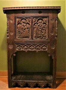 Mueseum-Quality-17th-C-ORIGINAL-RENAISSANCE-Era-Oak-Cabinet-c-1650-antique