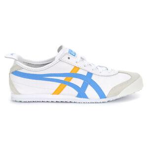 ASICS Onitsuka Tiger Women's Mexico 66 White/Azul Blue Shoes 1182A078.102 NEW