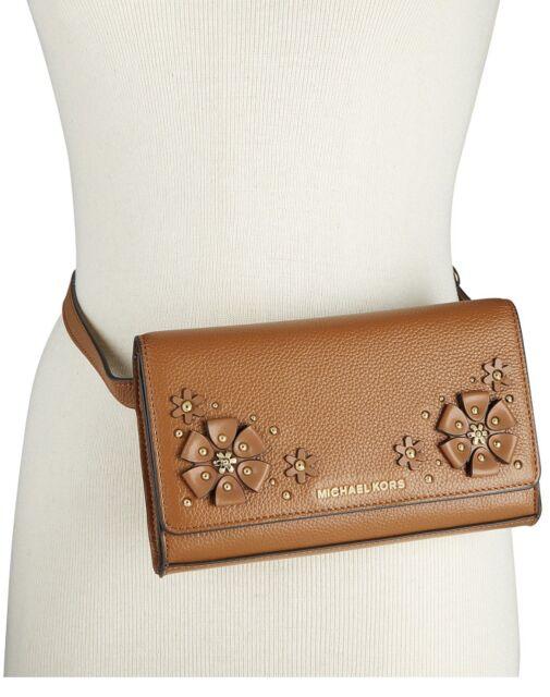 69912502a48c ... coupon code for michael kors 3 d flower garden fanny pack pebble leather  belt bag nwt