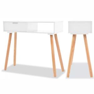 Modern Console Table 1 Drawer Wooden Hallway Dressing Desk Display