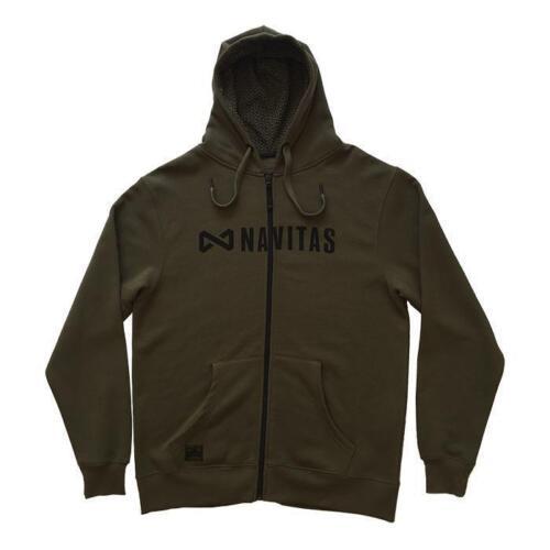 Carp Fishing Clothing All Sizes New Navitas Apparel Core Zip Hoody Green