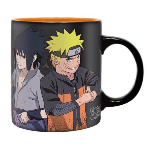 Naruto Shippuden - Keramik Tasse - Naruto & Sasuke Vs Madara - Geschenkbox