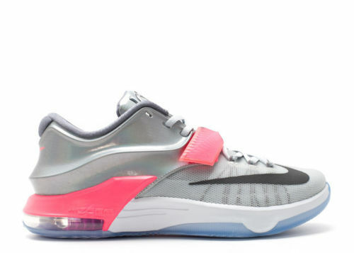 NEW Nike KD VII All Star 742548-090 Pure Platinum/Multi-Color/Black men size 12