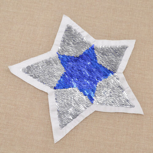 Five-pointed Star Love Heart Patch Reversible Sequins Sewing On Clothing DIY