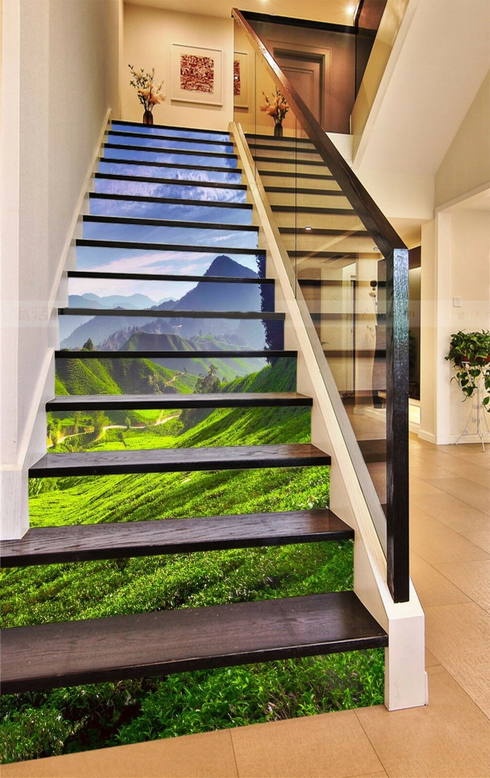 3D Tea Mountain 153 Stair Risers Decoration Photo Mural Vinyl Decal Wallpaper AU