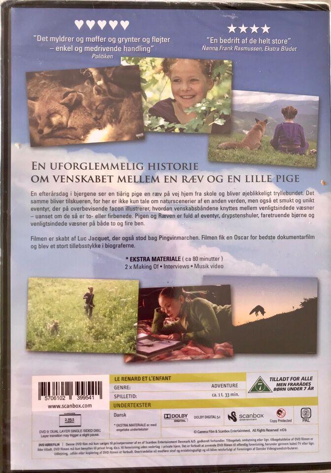 Pigen og ræven. Ny i folie, instruktør Luc Jacquet, DVD