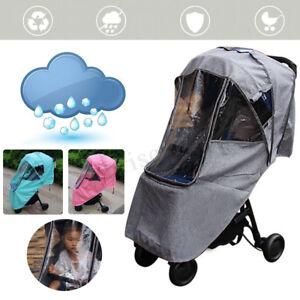 Warm-Waterproof-Universal-Pushchair-Baby-Stroller-Pram-Rain-Cover-Dust-SU