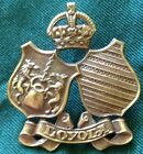 WWII LOYOLA COLLEGE cap badge Canadian Officer Training Corps COTC Canada C$